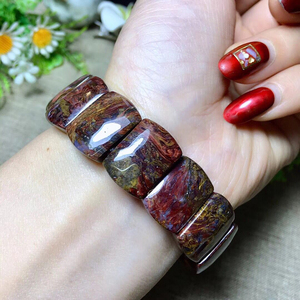 Image 5 - Wholesale Pietersite Stone Natural Stone Bracelets Pattern Energy Stone Hand Row Lucky for Women Men Gift Wrist Crystal Jewelry