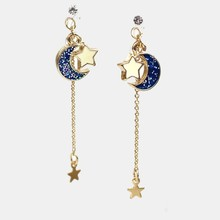 цены на Anime Sailor Moon 25th Cosplay Earring Girl Blue Moon Star Eardrop Accessories Prop  в интернет-магазинах