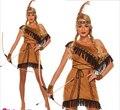 PP GRÁTIS Pocahontas indiano squaw cowgirl princesa do vestido extravagante traje plus size s-2xl