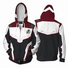 The Avengers 4 Endgame Quantum Realm 3 Hoodie Sweatshirt Hooded Zipper Jacket Men Women Streatwear Pullover Coat S-