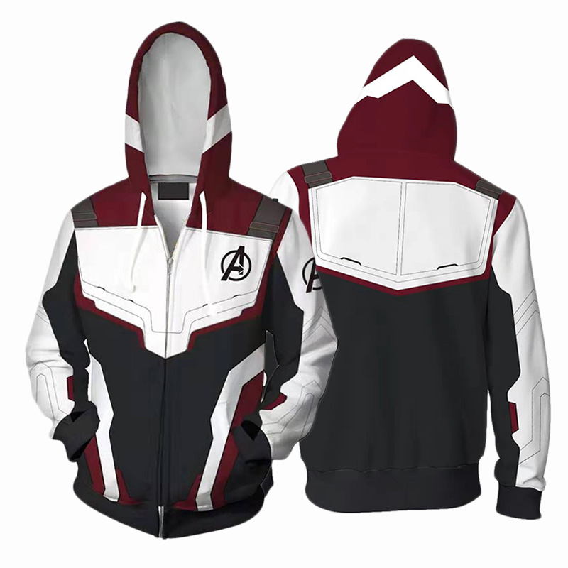 3D Printed Hoodies The Avengers 4 Endgame Quantum Realm Jacket Zipper Sweatshirt