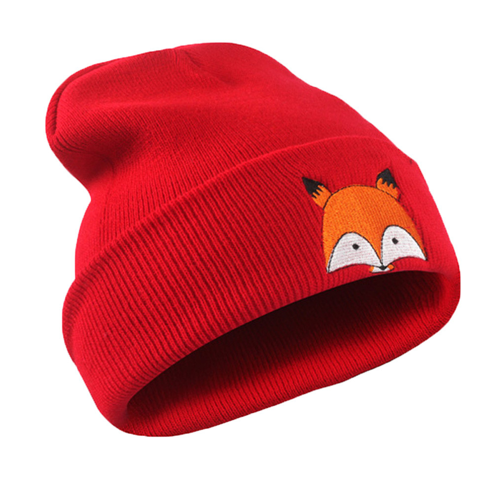 Girl's Accessories Girl's Hats Winter Beanie Baby Sweater Fox Ktfgs Girls Boys Wool Warm Scarf Hood Holds Hats Grey