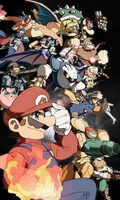Super Mario Anime Characters 120 200CM Single Layer Blanket 36752
