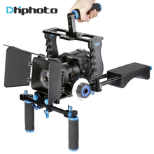 DHphoto Professional DSLR Video Rig Shoulder Camera Stabilizer Matte Box+Follow Focus+Cage for Canon Nikon Sony Camera Camcorder