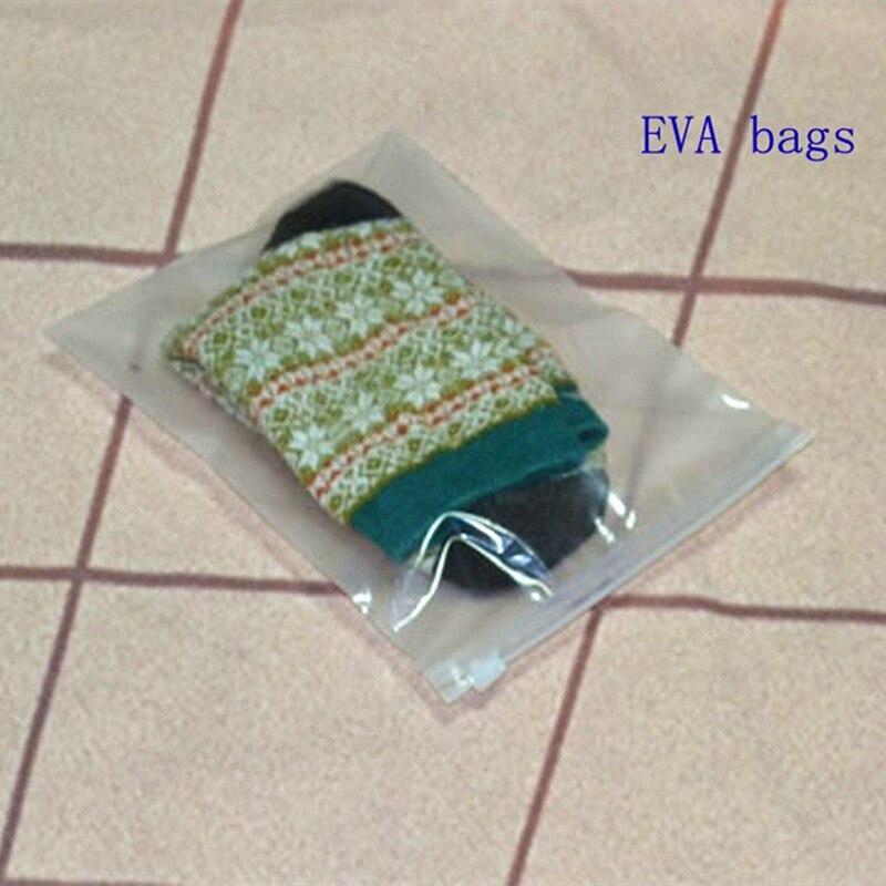 zipper top apparel underwear plastic bags 15 20cm clear EVA cosmetic bag makeup bag 100pcs lot