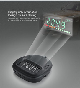 Image 2 - A1 GPS Universal Car Head Up Display HUD Speedometer Windshield Projectorr Speed Alarm Display Kilometers Security Alarm