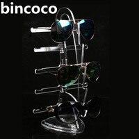 Bincoco Akrilik ekran tutucu temizle güneş gözlüğü gözlük 3d cam ekran için çerçeve yelkenli şekil ekran standı ekran tutucu