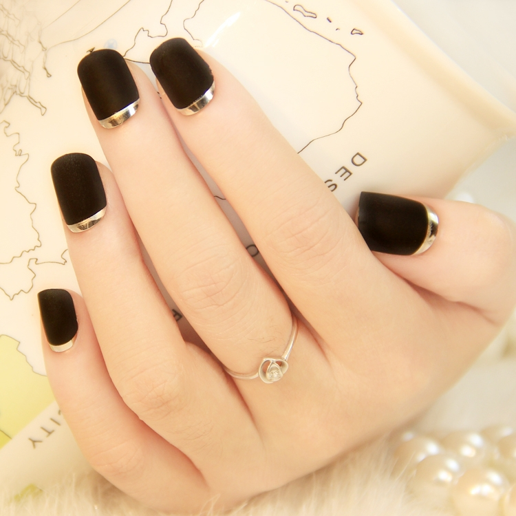 Magnificent Acrylic Nails Black And Silver Picture Collection - Nail ...