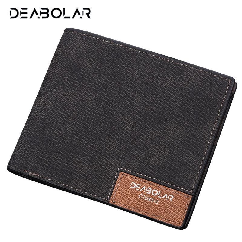Heiße Förderung! Marke 2018 Vintage Mann Brieftasche Männlich Schlank Top Qualität Leder Brieftaschen Dünn Geld Dollar Karte Halter Geldbörsen für Männer
