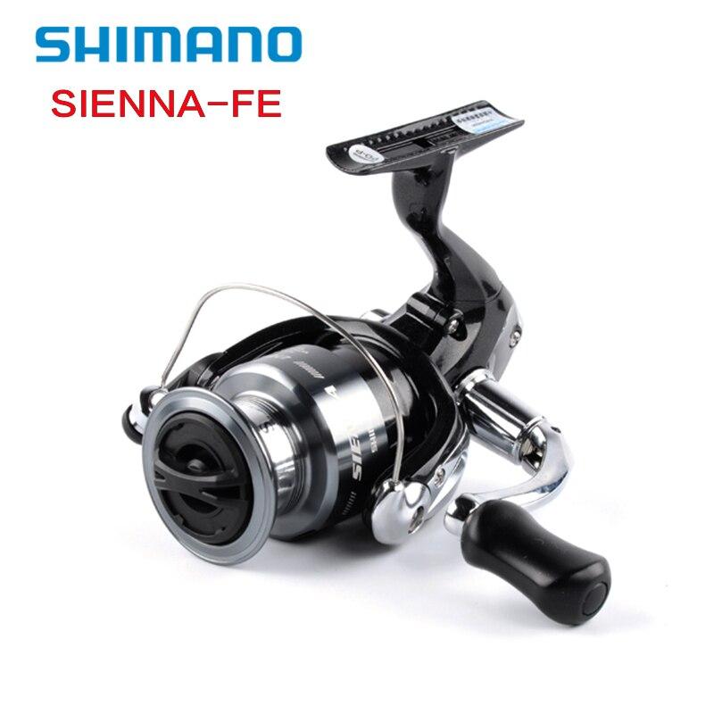 Shimano SIENNA FE 1000 2500 4000 Spinning Angelrolle 1 + 1BB AR-C Spool Frontbremse XGT7 Körper Saltewater Karpfen Angelrolle Pesca