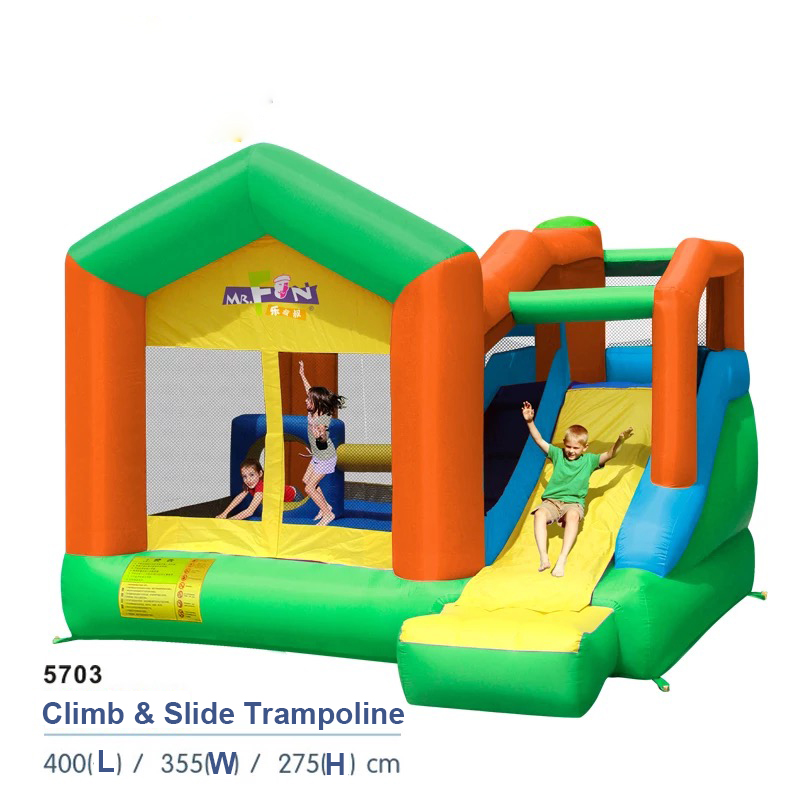 HTB1.C6dPFXXXXbpapXXq6xXFXXXC - Mr. Fun Inflatable Trampoline Bounce House with Slide with Blower