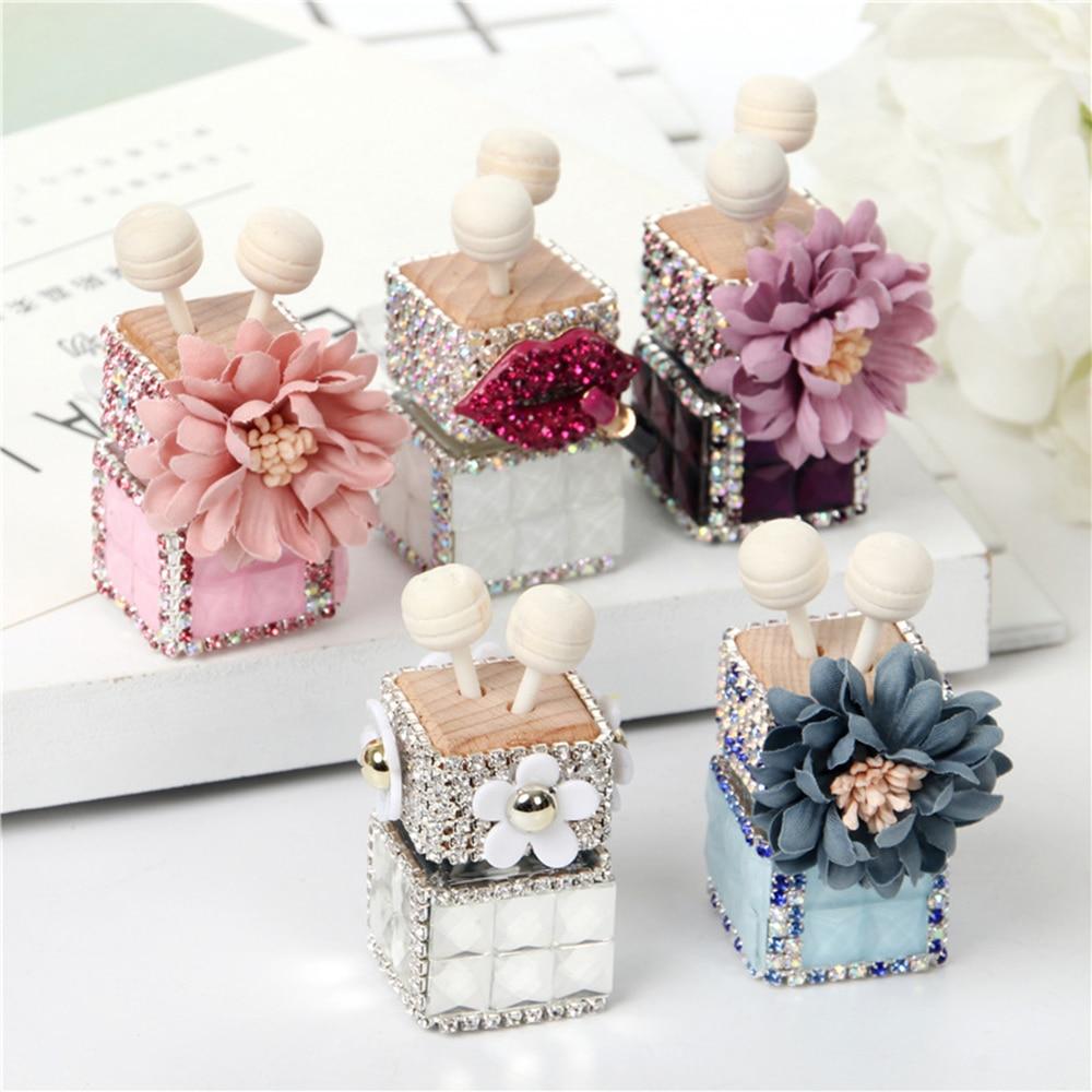 Car Perfume Clip Daisy Flower Diamond Fragrance Air Vent Freshener