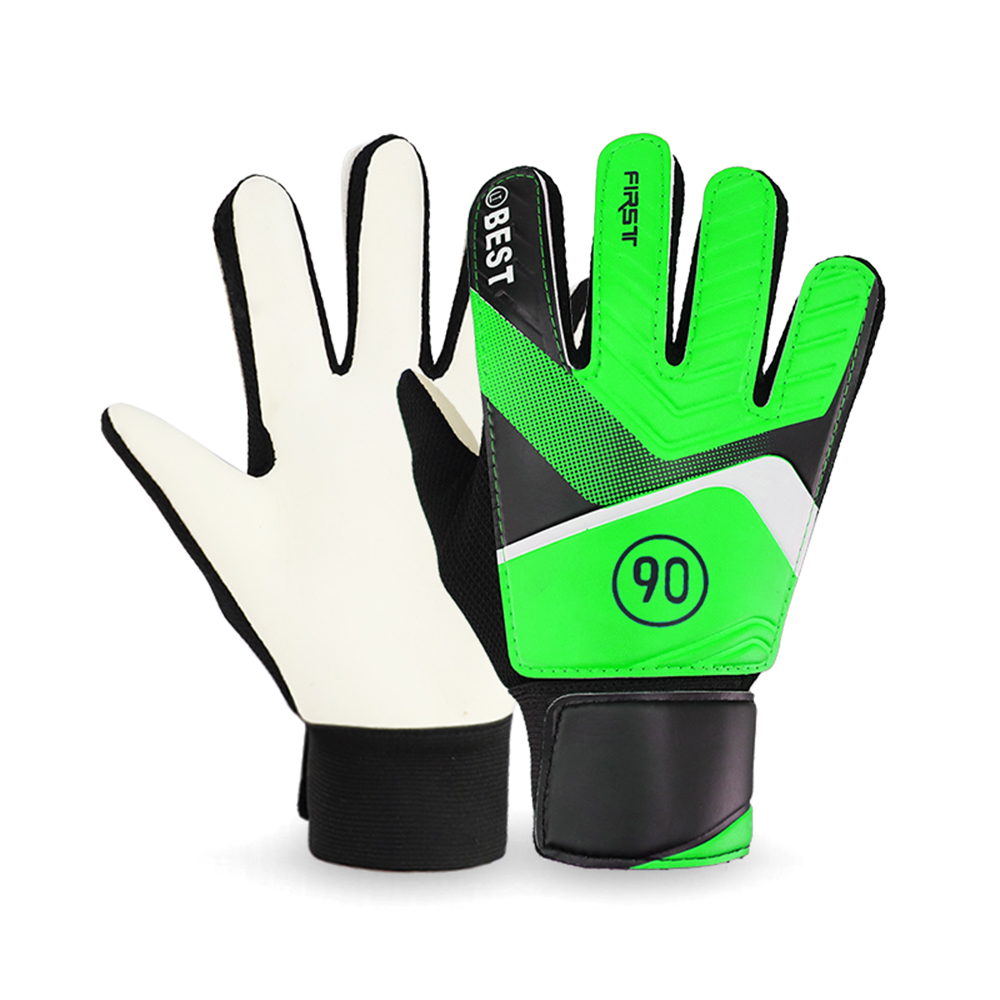 2019 Professional Kid's Soccer Goalkeepers Glvoes Finger Protection Latex Soccer Goalie Gloves Teenagers Breathable Sports Glove