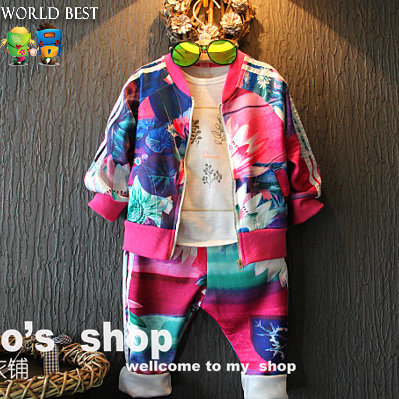 Autumn Children Set 2017 Autumn Girl Clothes Hot Sale Baby Clothing Set Casual Baby Long Sleeve Coat+Pants 2 Piece Baby Girl Set 2017 autumn girl doll shirt the fashionable two piece set of pure color lotus leaf coat with harness sets tide