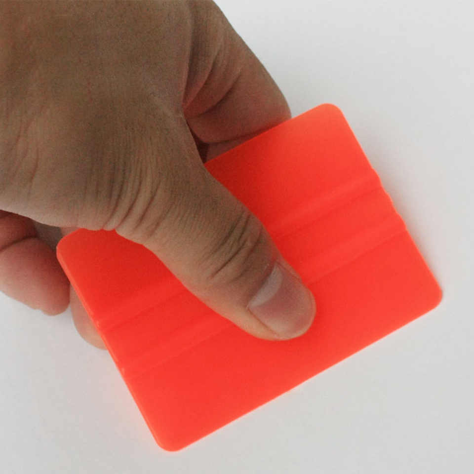 Image 2 - New Arrive Vinyl Applicators 7.5*5.5cm Car Tint Tools Bondo Cards Orange Mini Vinyl Squeegee C 72 Whole Sale-in Car Stickers from Automobiles & Motorcycles