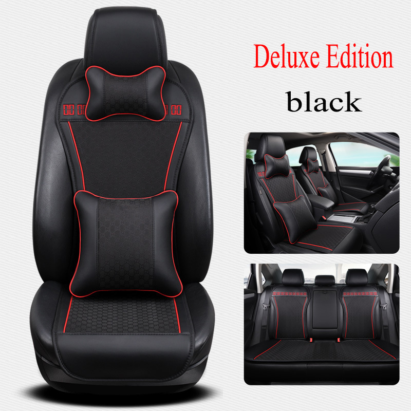 Kalaisike leather Universal car Seat covers for Honda all models CRV XRV Odyssey jazz city crosstour civic crider fit accord carbon fiber leather car remote key case chain keyless fob cover for honda civic 2017 accord fit crv cr v xrv crosstour hrv jazz