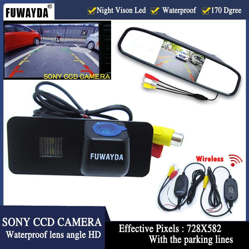 FUWAYDA wrieless Car Rear View camera Video receiver SONY CCD car Camera FOR VW GOLF 4 5 6 MK4 MK5 EOS LUPO BEETLE Superb