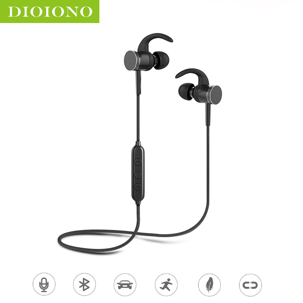 DioIono Bluetooth 5.0 Wireless Sports Earphone Cordless Headphone Earbuds Headset Super Noise Canceling HIFI Sound Earpiece