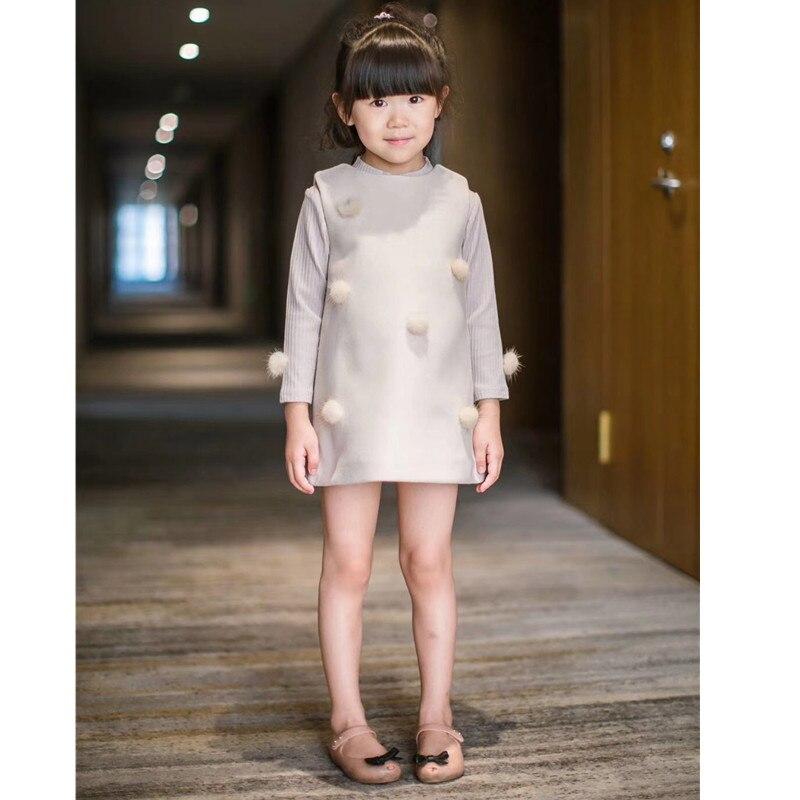 Spring autumn girls clothing set sweater + sleeveless  wool dress Spring autumn girls clothing set sweater + sleeveless  wool dress
