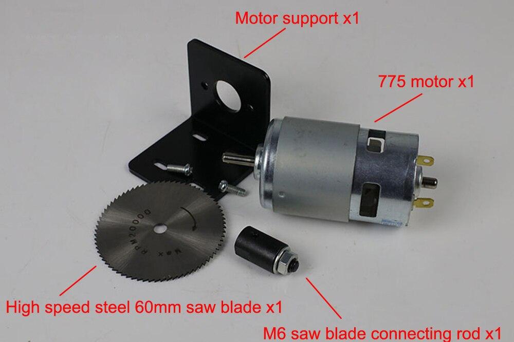 775 Motor High-power Circular Saw 150W Power Circular Saw DIY Circular Saw With M6 Connect Rod Mini Cutting Machine