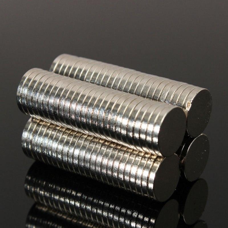 50 pcs Dia. 8mm x 1.5mm Strong Round Rare Earth Neodymium Magnet Art Craft Fridge Magnets