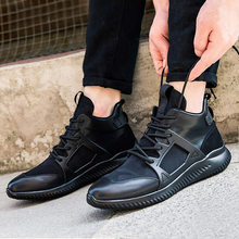 e5248d1e9 New Outono Inverno Homens Sapatos Da Moda Sapatos de Alta-top Sapatos Casua  Camuflagem Zapatos Hombre Respirável Lace-up Homens .