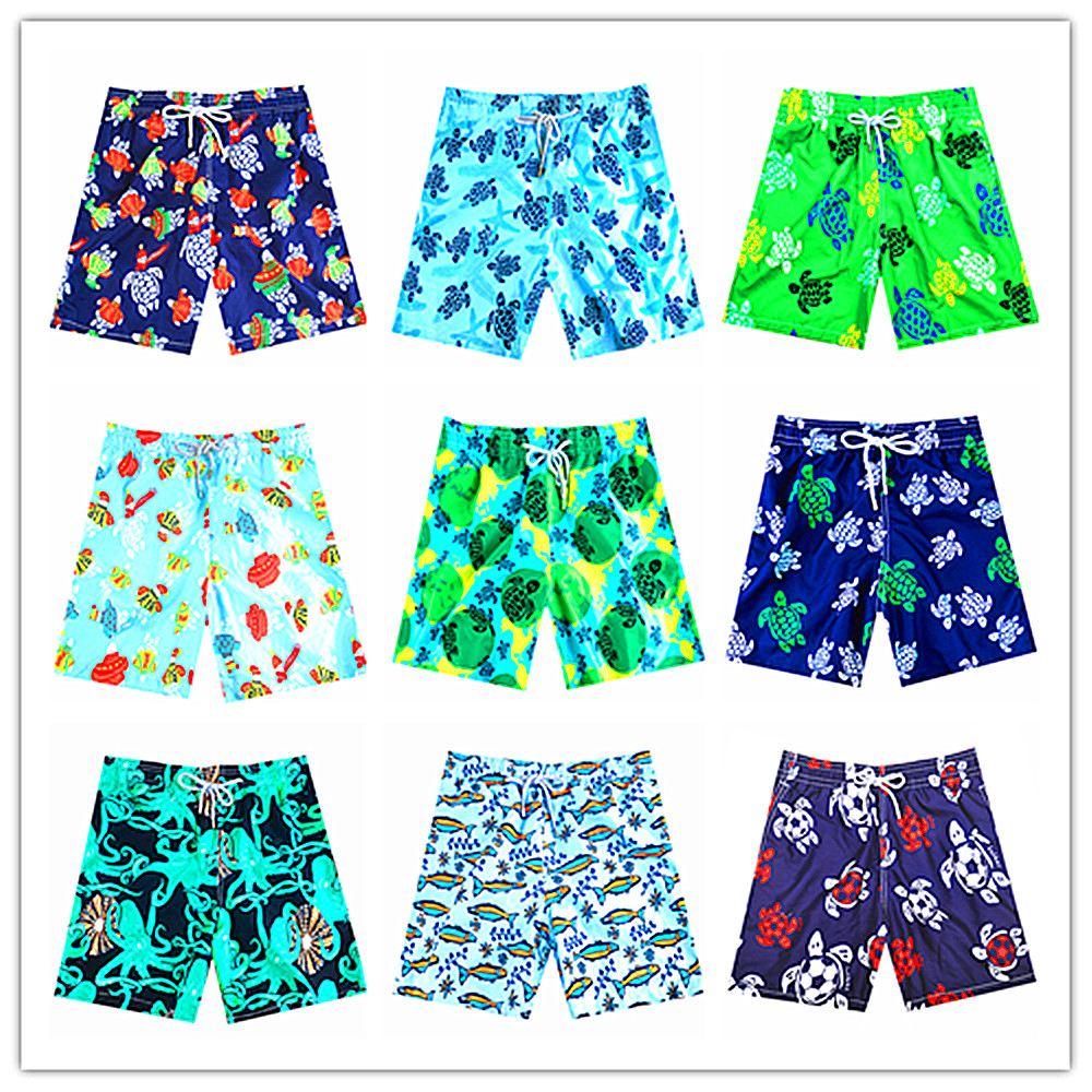 2019 BREVILE PULLQUIN Brand Men   Board     Shorts   Turtle Bermuda Beach Boxer Trunks   Shorts   100% Quick Drying Men's Swimwear Swimsuits