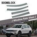 Высокое качество 4 шт. Дымовое окно дождевой козырек для Volkswagen VW Tiguan L 2018 2017 Стайлинг вентиляционные солнечные дефлекторы защита ABS аксессуар...