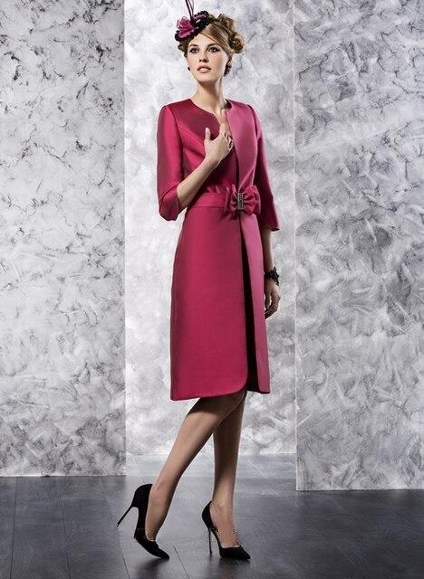 Мать невесты платья новый бренд вина багровый коротким с бантом с длиной до колен vestido пункт mae де noiva Большой размер MBD146