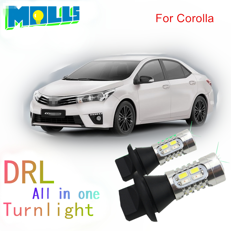 Shinman led  DRL Daytime Running Light& Front Turn Signals all in one  WY21W 7440 T20 car led light for Toyota Corolla night lord for nissanteana wy21w 7440 t20 winker blinker led drl