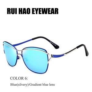 Image 3 - 瑞ハオ眼鏡ブランドファッションサングラス女性偏光サングラスの女性人気のパイロットサングラス oculos デゾル KM8116