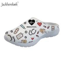 купить Jackherelook Women Sandals Platform Summer Beach Shoes Fashion Premium Sketch Medical Nursing Design Mesh Slippers for Woman дешево