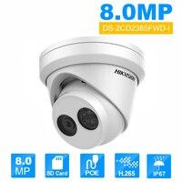HIK English Version DS 2CD2385FWD I 8MP Mini Network Turret CCTV Security Camera POE 30M IR