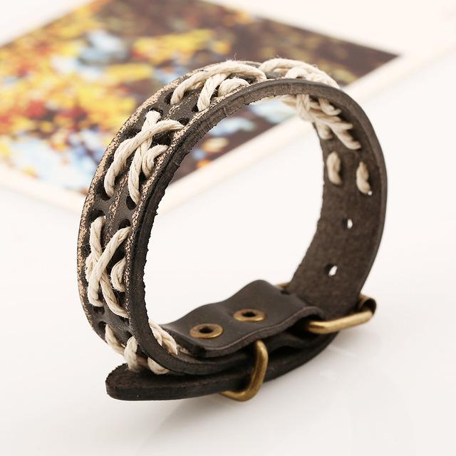 Rock Bikers Hologram Leather Casual Bracelets