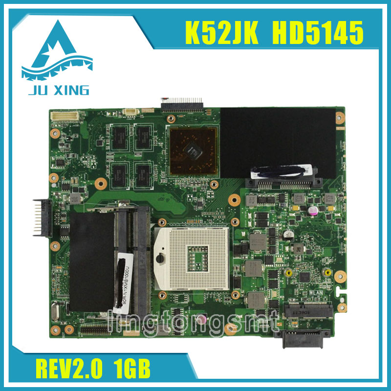 for ASUS K52JK HD5145 with 1GB DDR3 VRAM K52JR REV 2.0 USB3.0 Laptop motherboard mainboard 100% tested brand new ziwb2 ziwb3 ziwe1 la b092p rev 1 0 for b50 70 laptop motherboard mainboard with with sr1ek core i3 4005u