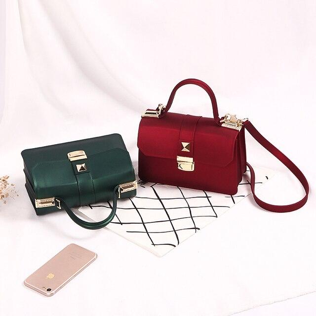 bc289f1c9a Matte Jelly Bag Small Crossbody Bags Women Brands Shoulder Bag Luxury Scrub  Leather Handbags Messenger Beach Bags