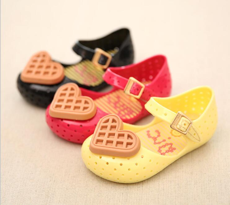 2018 waffle biscuit kid shoes jelly princess shoes girl boy plastic spring summer sandals girls shoes