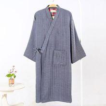 New Arrival Men Thin style Bathrobe Male Traditional Japanese Kimono Men Gown Bathrobe Sleepwear Lounge Home Clothing 122603