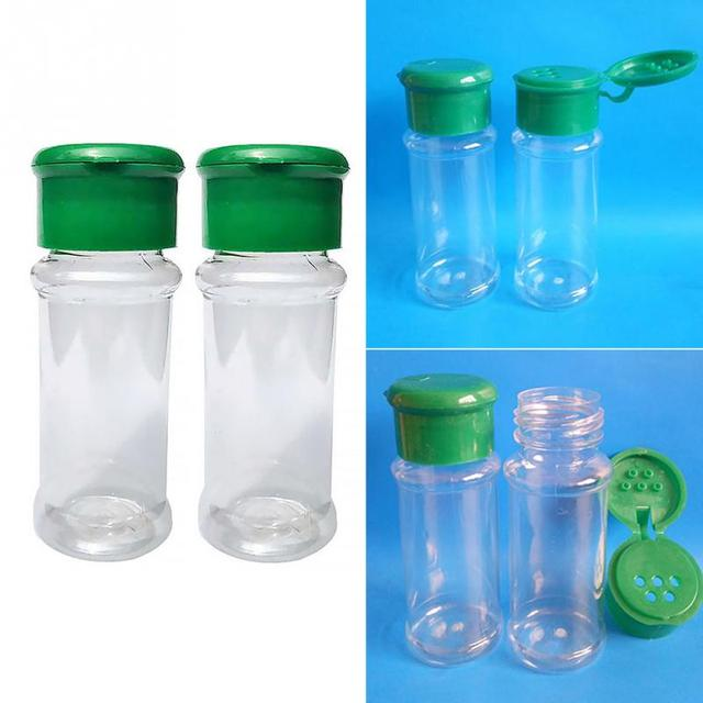268257f898e4 US $1.39 |2Pcs/Set Plastic Salt Pepper Vinegar Oil Cruet Shaker Jar Clear  Bottle Pot Kitchen Accessories-in Salt Pigs, Cellars & Servers from Home &  ...