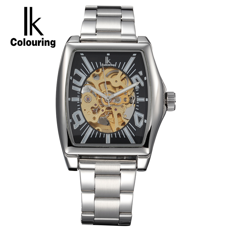 Fashion Luxury Brand Stainless Steel Watch Automatic Men Wristwatch Men Mechanical steel Watches relogio masculino цена и фото