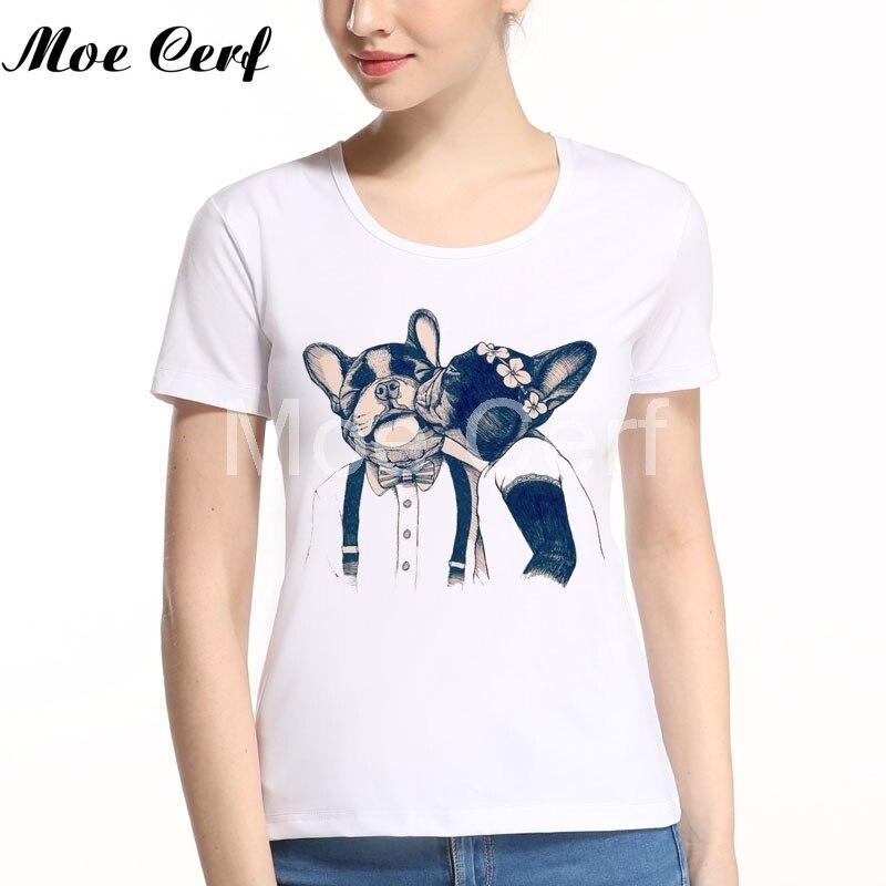 Лидер продаж 2018 Забавный принтом мопса Для женщин футболка Новинка Французский бульдог футболка Femme Для женщин топы Camisetas frenchie футболка L11-106