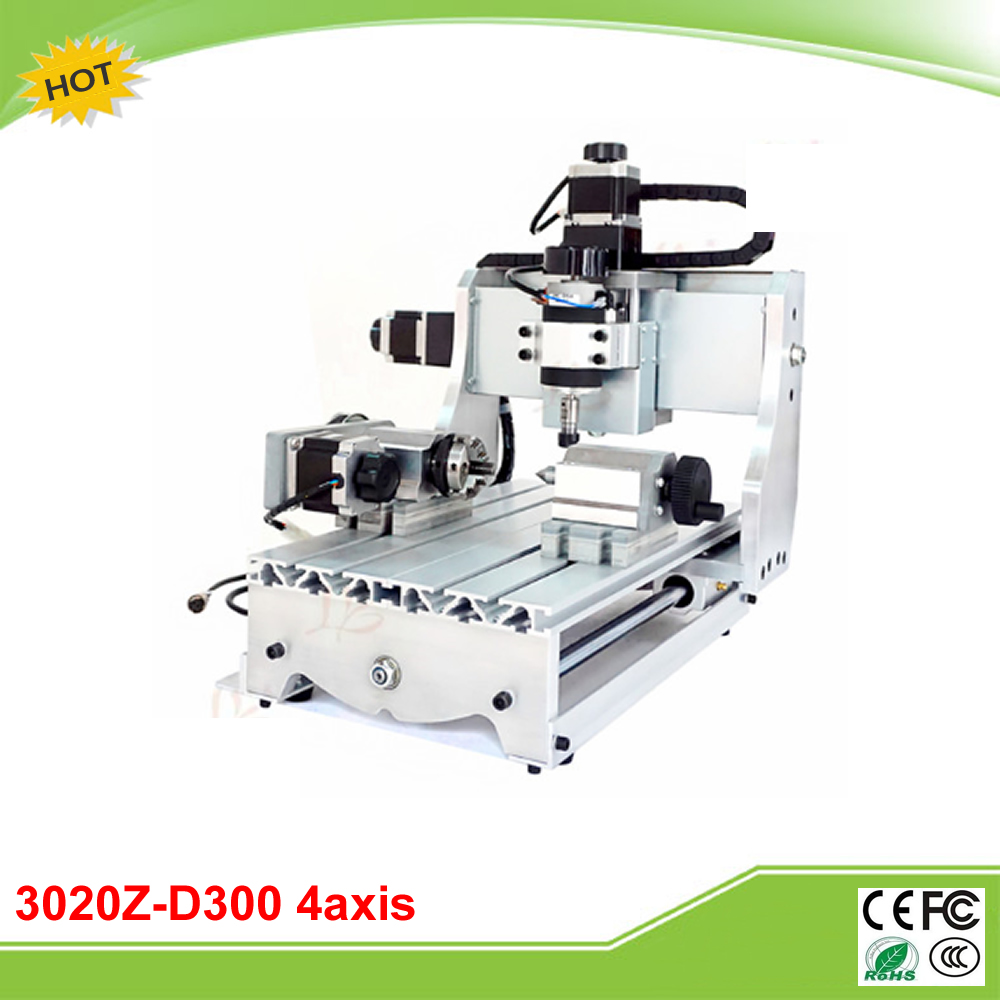 CNC 3020Z-D300 4 axis ball screw mini CNC router free tax to EU free tax to eu high quality cnc router frame 3020t with trapezoidal screw for cnc engraver machine