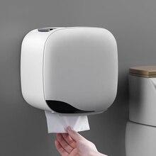 Duvara monte rulo kağıt havlu tutucu raf doku kutusu su geçirmez tuvalet kağıdı tepsisi rulo kağıt tüp banyo saklama kutusu organizatör