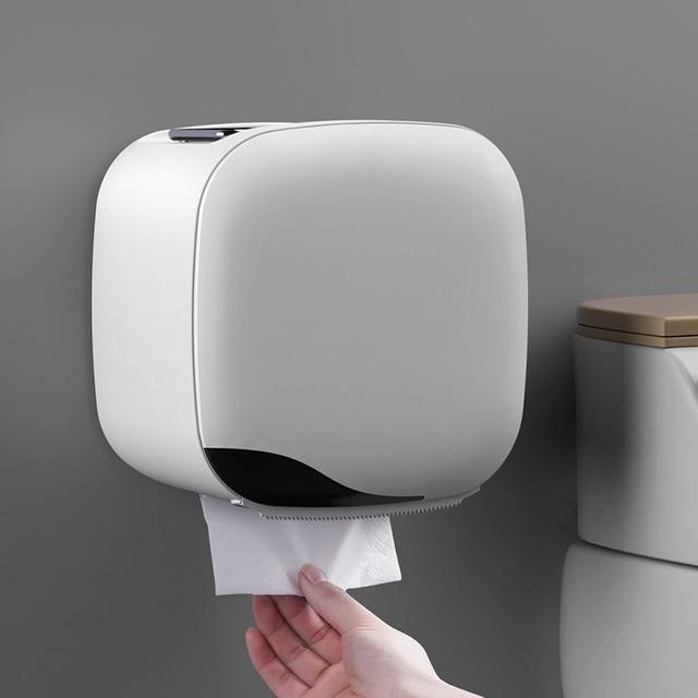 Wall Mount Toiletrolhouder Plank Tissue Doos Waterdichte Wc papier Lade Papierrol Buis Badkamer Opbergdoos Organizer