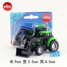 SIKU 1043/литая металлическая модель/DEUTZ-FAHR Трактор БУЛЬДОЗЕР/обучающая немецкая игрушка для детского подарка/Коллекция/маленький