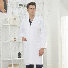 White lab coat doctors clothes female nurses physician beauticians male medical treatment