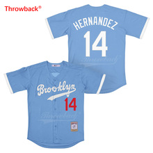 Throwback Jersey Mens Brooklyn Hernandez Movie Baseball Jerseys Colour White Gray Blue Black Shirt Stiched Wholesale