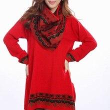 Фонд осень зима шерсть нерегулярные свободные большой ярдов сумка Хип модное платье-свитер платье