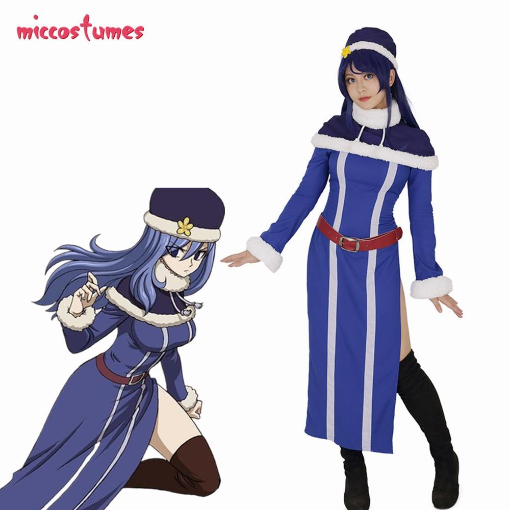 Japan Anime FAIRY TAIL Juvia·Lockser Cosplay Custome Full Set Dress Tops