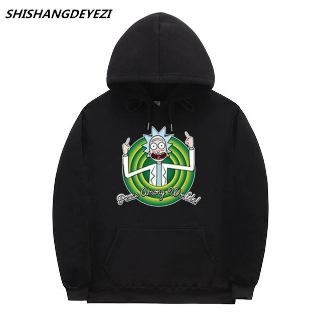 23f3ede01 placeholder 2018 New Anime Cool Rick Morty Hoodies good quality cotton  fashion Casual Hoodie Men women Hoodie